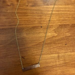 Pi Phi bar necklace